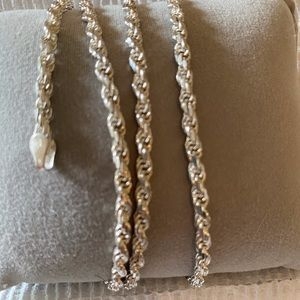 """Sterling rope chain 24"""""""